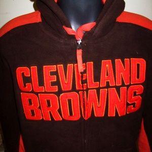 CLEVELAND BROWNS NFL Fuzzy Fleeze Full Zip Hoody